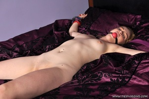 Gagged naked lady has all her limbs boun - XXX Dessert - Picture 4