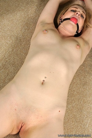 Naked chica with pierced nipples lays on - XXX Dessert - Picture 3
