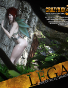 Horny forest fairy wakening a sexy dude with a blowjob