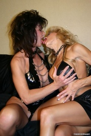 horny brunette and blonde