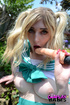 pigtailed girl anime cosplay