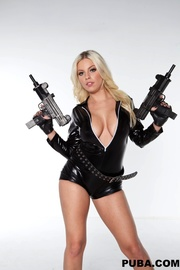 sensual blonde assassin hot
