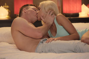 Blonde chick with small tits enjoys fuck - XXX Dessert - Picture 1