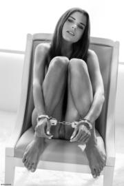 nude brunette teen posing