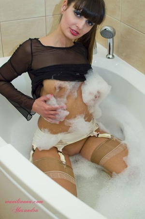 Luscious babe takes off her leopard skin - XXX Dessert - Picture 13