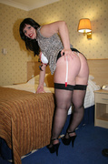 ass, homemade, stockings, white