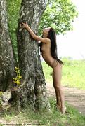 brunette, nude, posing, teen