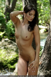 beautiful brunette lady displaying