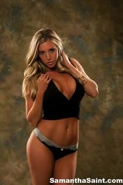 gorgeous blonde posing her