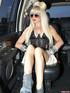 cute blonde wearing black