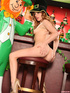 Lusty chick wearing her sexy leprechaun outfit gets naughty on St Patrick's