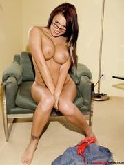 lusty creamy brunette glasses
