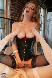 ginger chick black corset
