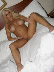 sleeping blonde beauty with