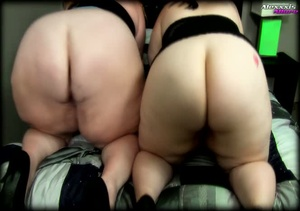 Two fat hotties wearing black nighties a - XXX Dessert - Picture 5