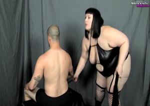 Bondage fattie wearing black lingerie, f - XXX Dessert - Picture 2