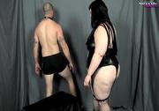 bondage fattie wearing black