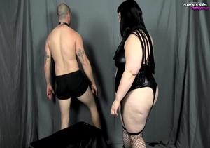 Bondage fattie wearing black lingerie, f - XXX Dessert - Picture 4