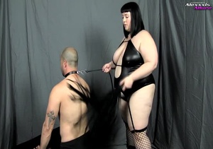 Bondage fattie wearing black lingerie, f - XXX Dessert - Picture 5