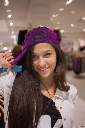 Boobed brunette teen in a purple cap und - XXX Dessert - Picture 4