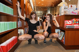 Two brunette teen dolls in black short d - XXX Dessert - Picture 4