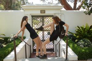 Two brunette teen dolls in black short d - XXX Dessert - Picture 8
