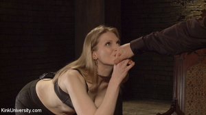 Honies in black hosiery take the pain fr - XXX Dessert - Picture 1