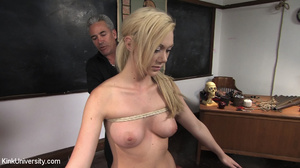 Two chicks get bound with rope and suspe - XXX Dessert - Picture 7