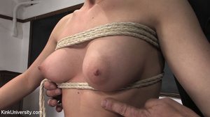 Two chicks get bound with rope and suspe - XXX Dessert - Picture 8