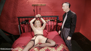 Blonde in black stockings and a garter b - XXX Dessert - Picture 15