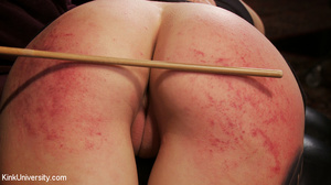 Buzz-haired blonde getting spanked bare- - XXX Dessert - Picture 5