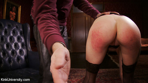 Buzz-haired blonde getting spanked bare- - XXX Dessert - Picture 6