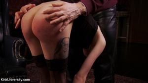 Buzz-haired blonde getting spanked bare- - XXX Dessert - Picture 7