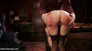 Buzz-haired blonde getting spanked bare- - XXX Dessert - Picture 8