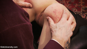 Buzz-haired blonde getting spanked bare- - XXX Dessert - Picture 12