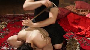 Brunette in black panties gets bound wit - XXX Dessert - Picture 13
