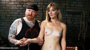 Naked blonde gets her body bound with ro - XXX Dessert - Picture 1