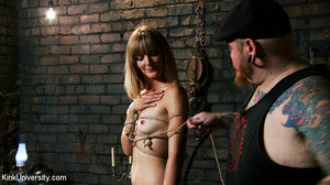 Naked blonde gets her body bound with ro - XXX Dessert - Picture 8
