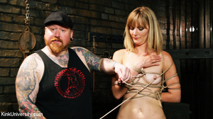 Naked blonde gets her body bound with ro - XXX Dessert - Picture 9