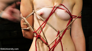 Naked blonde gets her body bound with ro - XXX Dessert - Picture 14