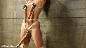 Brunette in white socks gets tied with r - XXX Dessert - Picture 10