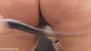 Naked brunette braces on some stocks as  - XXX Dessert - Picture 15