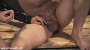 Rubber clad dom works on a naked guys ju - XXX Dessert - Picture 10