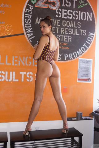 amazing brunette gal posing