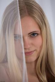 arousing long-haired blonde freshie