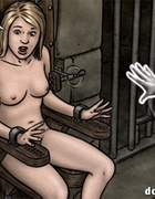 Lovely blonde toon vixen gets enchained by kinky ghost for bad tortures