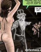 Dirty porn comics with kinky ghost and his collection of enslaved girls