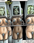 Poor enslaved girls with huge boobs kept in special devices with vacuum
