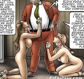 Awesome porn comics where submissive girls in the slut training camp pretending