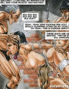 Dirty cartoon orgy with busty hotties getting bound and banged roughly